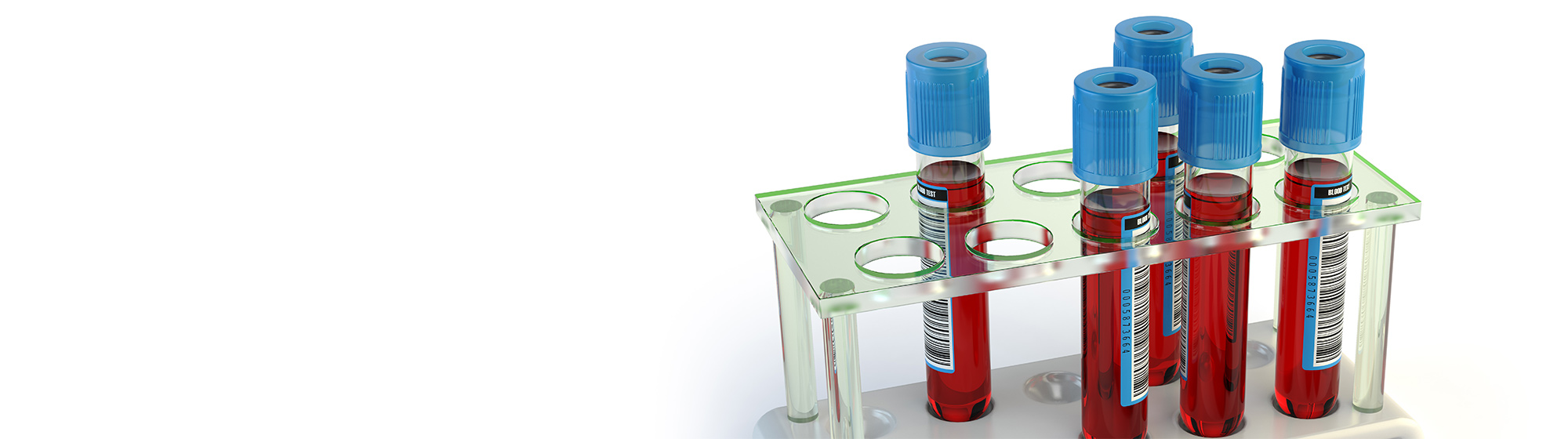 vials of a red substance in a vial holder.
